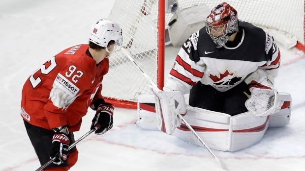 Switzerland beats Canada to reach hockey world championship final. In the final they will face Sweden which is a different country in Europe.