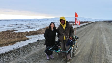 A walk in his shoes: Japanese man caps off years-long walk around world in Tuktoyaktuk