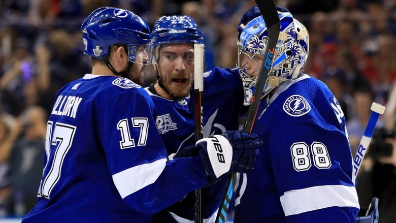 The Lightning can close out the Capitals on Monday in Washington with a  win. ( Mike Ehrmann Getty Images) 0188137345f