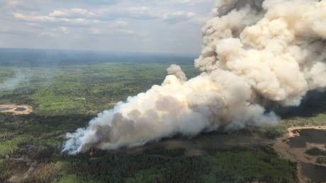 Rabbit fire at Prince Albert National Park Waskesiu