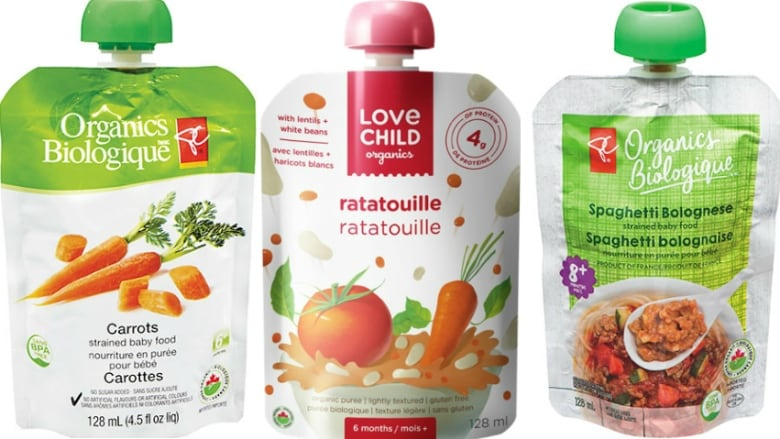Packaging defect triggers recall of organic baby food pouches | CBC News