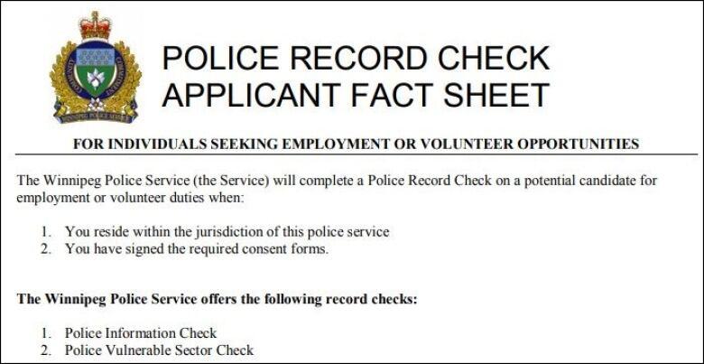 Winnipeg police process for criminal record checks lambasted