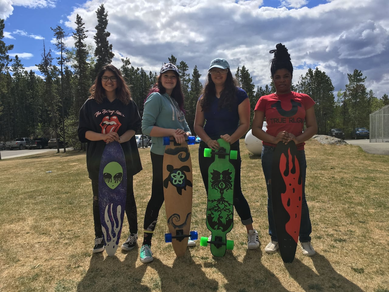 Girls get rolling with after-school longboard building