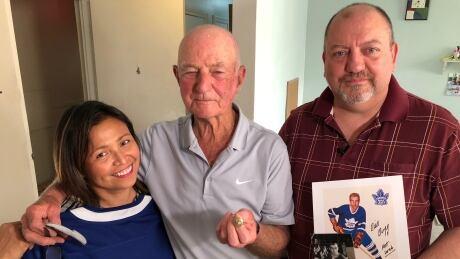 Dick Duff, Victoria Raymond and John Raymond