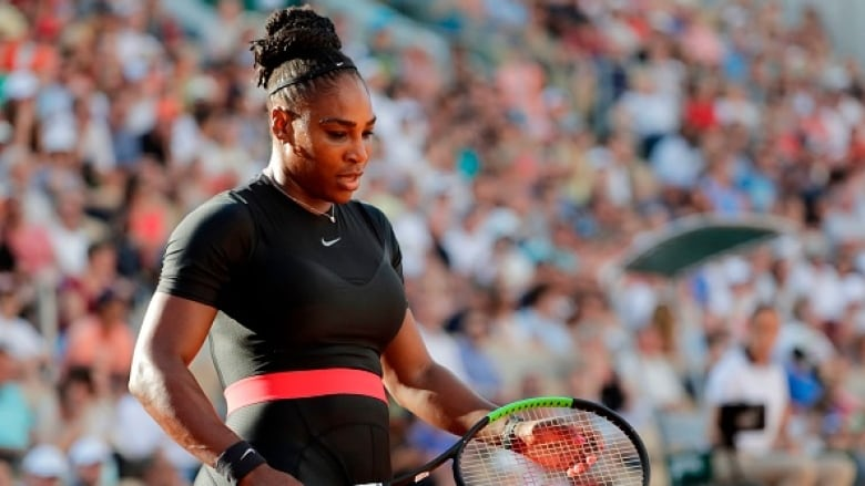 1cbf8bc8777f Serena Williams withdrew from her fourth-round match against Maria Sharapova  on Monday due to an arm injury. (Thomas Samson AFP Getty Images)