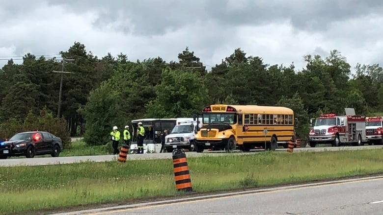 Highway 401 bus crash: Photos from the horrific scene