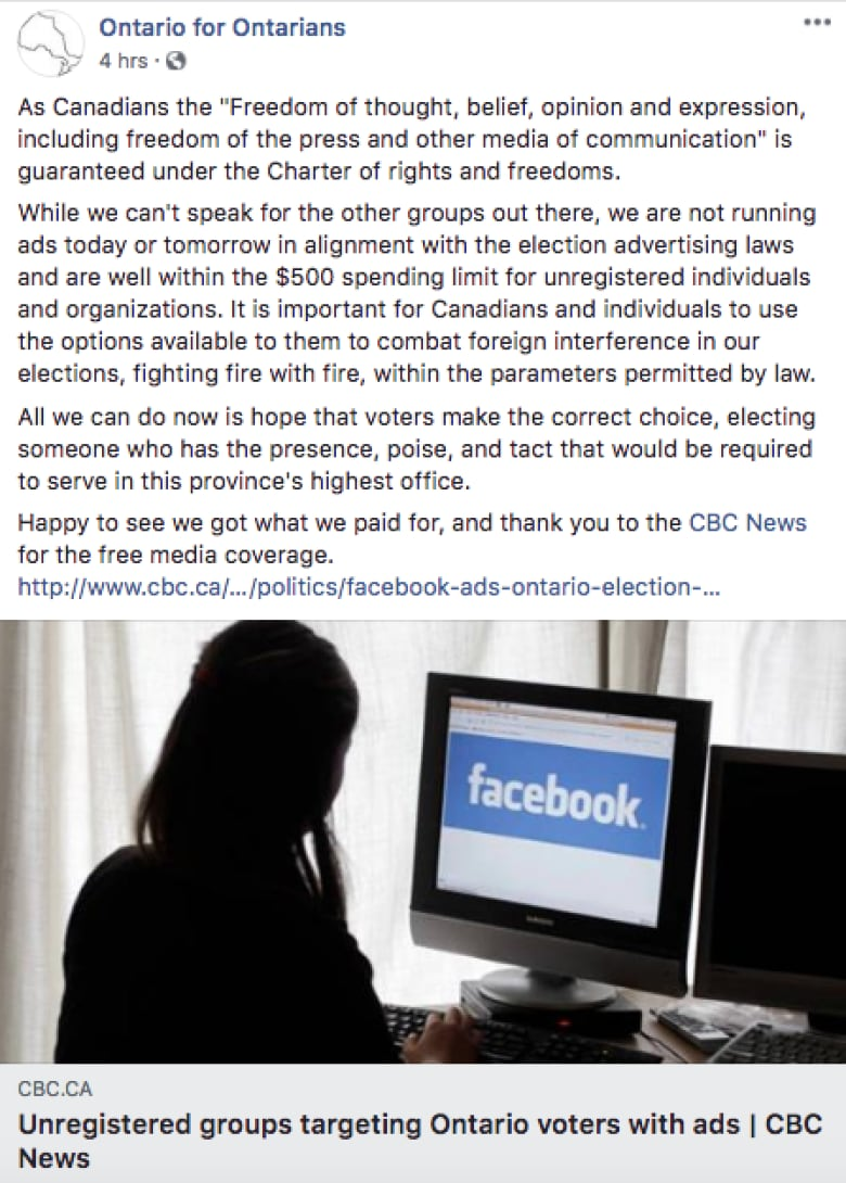 Dirty #onpoli Election Ads Exposed on facebook