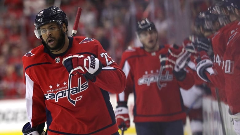 e3a8766ec07 Washington Capitals  Devante Smith-Pelly became the latest athlete to weigh  in on a potential White House visit when he spoke out against Donald Trump  on ...