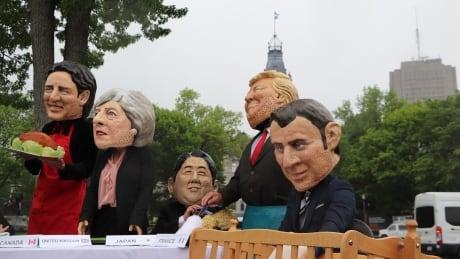 G7 Summit- Oxfam-Quebec protest June 7