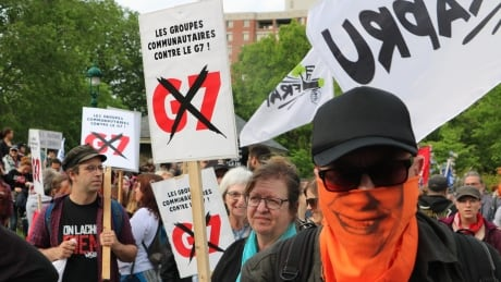 Anti-G7 demonstrations in Quebec City