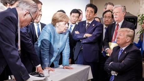 Merkel and Trump at the G7