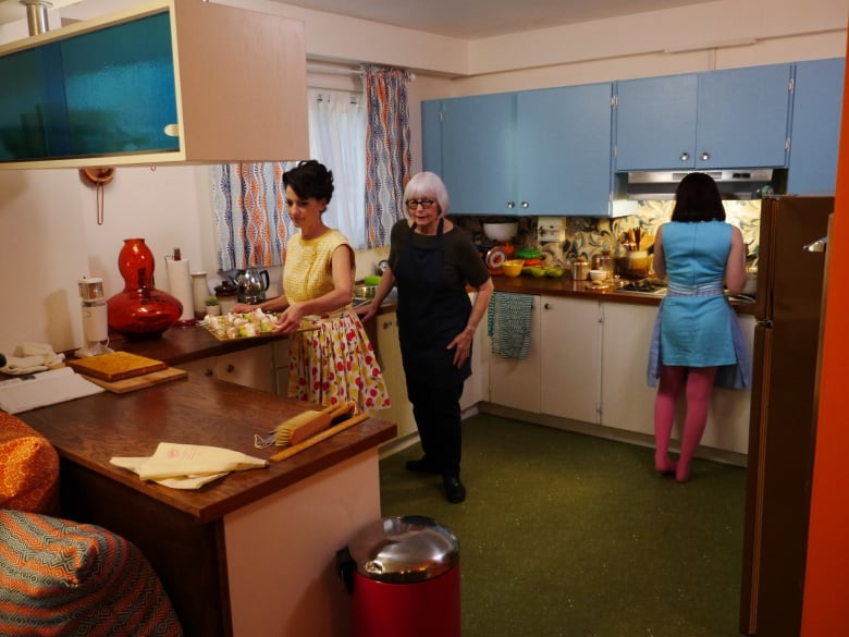 A modern family's home gets a Space Age '60s makeover   CBC Life on 60's kitchen furniture, 60's refrigerators, 60's bicycles, 60's light fixtures, 60's jewelry, 60's fireplace, 60's toys, 60's living room, 60's bathrooms, 60's flowers, 60's lamps, 60's kitchen renovations,
