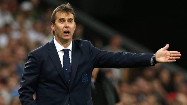 a5f187f75a1 Spain fired national team head coach Julen Lopetegui on the eve of the  World Cup after he accepted a job with Real Madrid for next season.