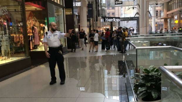 It poured so hard in Toronto that rain fell inside the Eaton Centre | CBC News