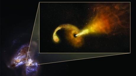 for the 1st time astronomers see eruption from black hole as it rips star apart