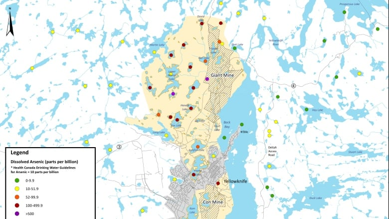 Map Of Canada Yellowknife.Arsenic Update N W T Health Officials Share Info About Arsenic