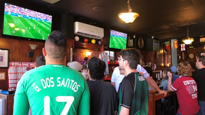 Fans In Team Jerseys Packed The Churchill Arms Pub In Charlottetown On Sunday To Watch Mexico Play Germany At The  Fifa World Cup Mexico Won