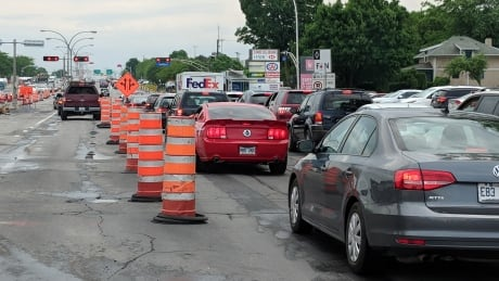 West Island drivers, get ready: Construction ramping up on St-Jean Blvd. this week | CBC