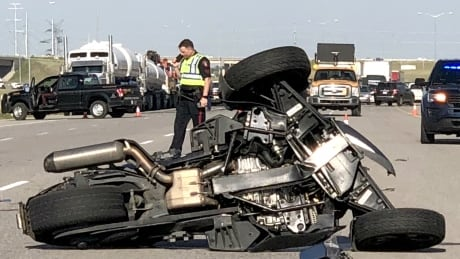 Stoney Trail shut down at 88th Street S.E. after serious crash involving motorbike | CBC