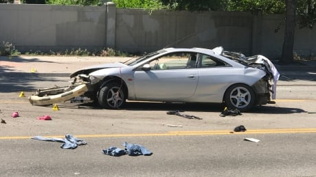 Police watchdog investigating after car followed by officer crashes in Kelowna
