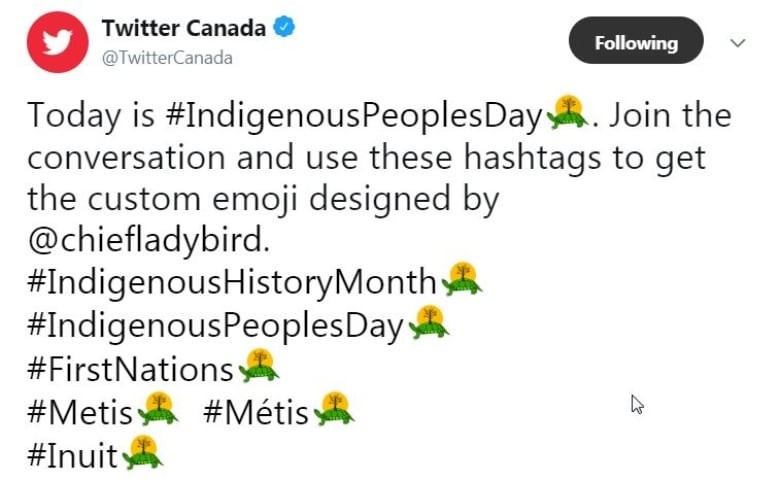 Anishinaabe artist designs Twitter Turtle Island emoji for Indigenous History Month