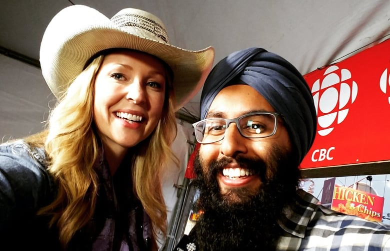 Kelly Vanderbeek And Harnarayan Singh In The Cbc Broadcast