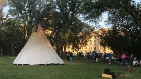 Regina legislature teepee