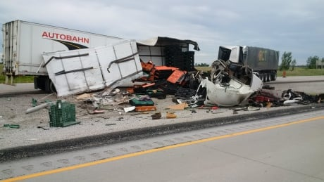 Highway 401 reopens after fatal crash involving tractor-trailers