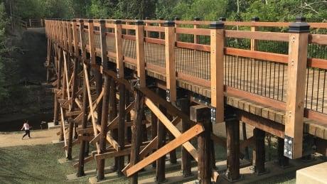 Mill Creek ravine trestle bridge
