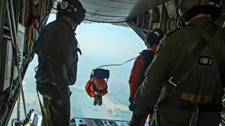 SAR techs jumping from plane