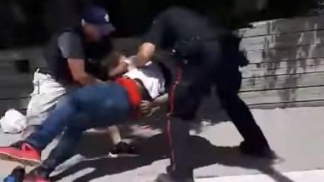 Barrie police violent arrest