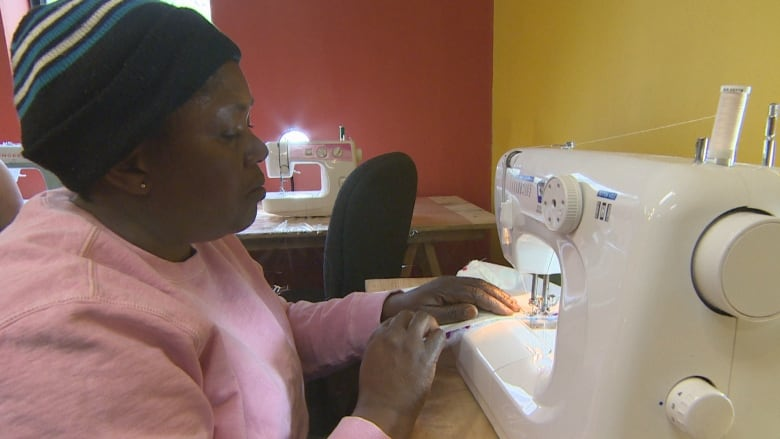 Newcomers To St John's Stitch Together Futures In Fashion CBC News Mesmerizing Sewing Machine Rental Calgary