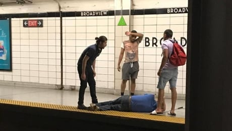 Three bystanders become heroes after saving blind man from TTC tracks at Broadview Station