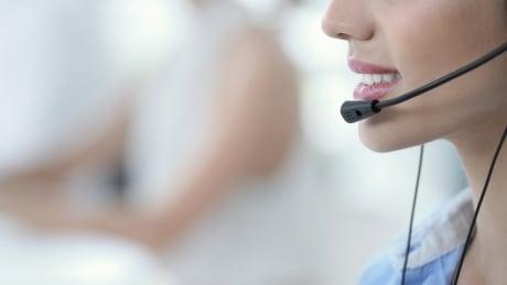 Call centre woman