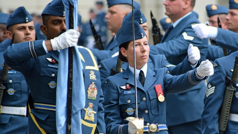 Royal Canadian Air Force guards the Queen Rcafheadline