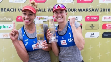 Canada's Bansley, Wilkerson beach volleyball