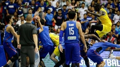 Brawl erupts at FIBA World Cup qualifier between Australia, Philippines