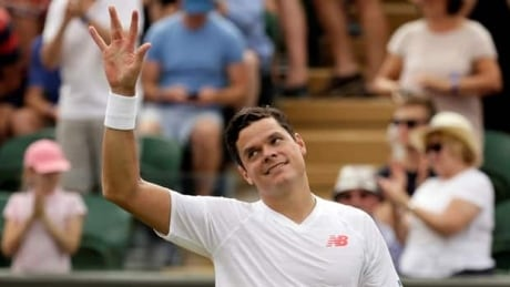 Milos Raonic unloads 147mph serve en route to Wimbledon win