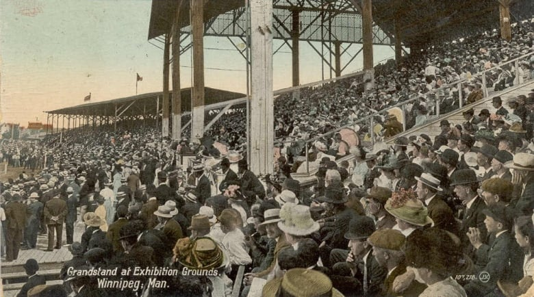 A Postcard Shows The Crowded Grandstand At Winnipeg S