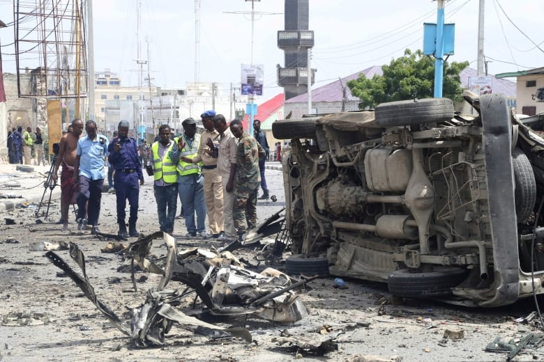 Twin blasts kill five in attack on Somalia's security ministry