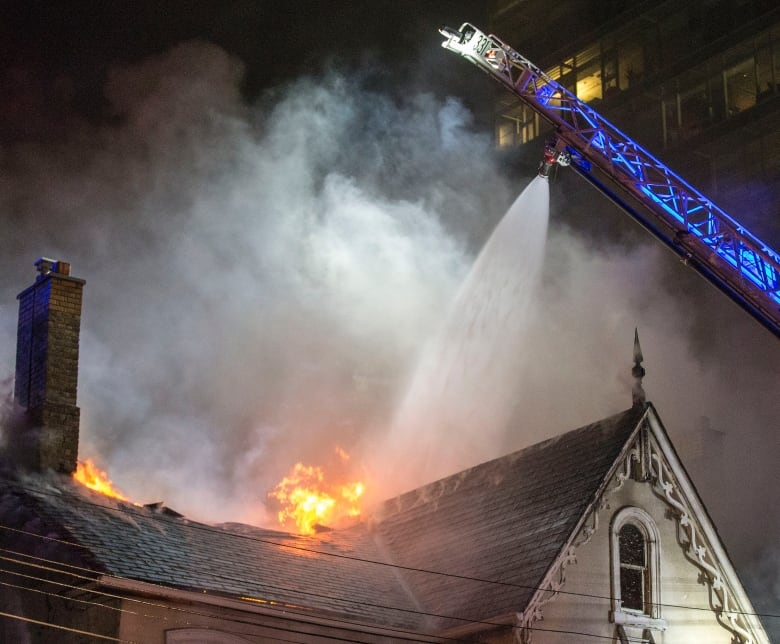 Part Of The Roof Of The Building Collapsed John Hanley Cbc