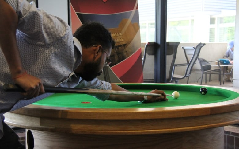University Of Waterloo Brings St Elliptical Pool Table To Math - Circular pool table