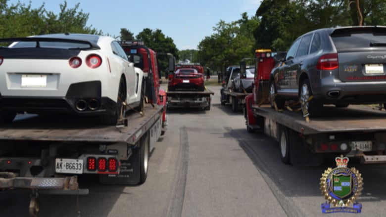 Cop speed trap snags 6 exotic cars racing double the speed limit in