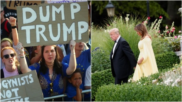 Trumps attend black-tie gala to kick off U.K. visit  | CBC News