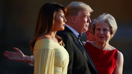 Trump and May in London