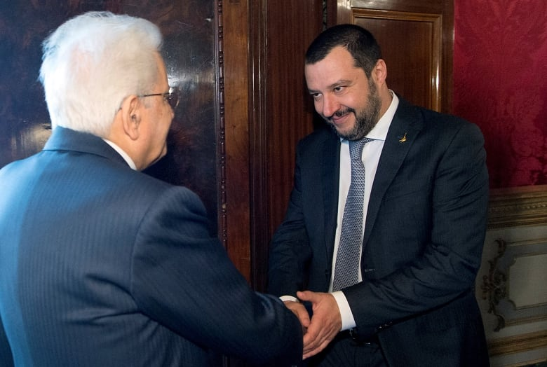 Italys president irks interior minister by allowing 67 migrants to italian president sergio mattarella welcomes league party leader matteo salvini at the quirinale palace in rome in april salvinis views on migrant m4hsunfo