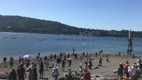 Canoes, kayaks take to water around Trans Mountain's marine terminal