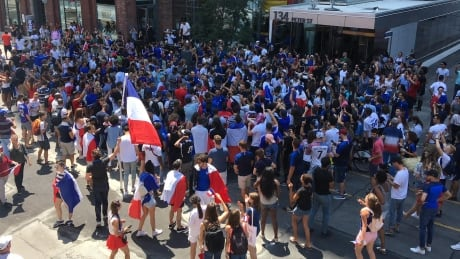 French fans in Toronto after World Cup final