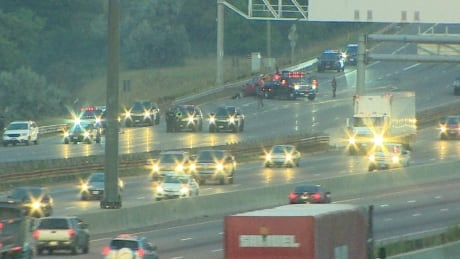 17-month-old girl in critical condition after multi-car crash on Highway 401