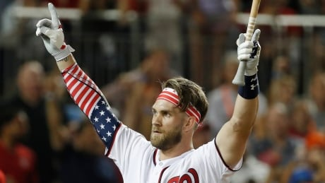 Bryce Harper delights home crowd with Home Run Derby win